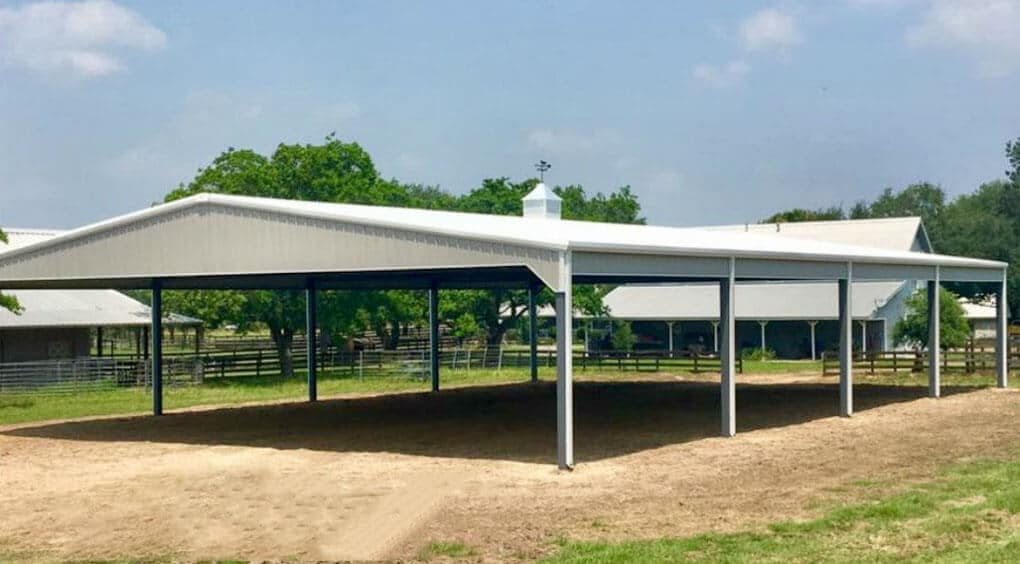 Tan arena by Covered Arena (TM) and Dressage Arenas