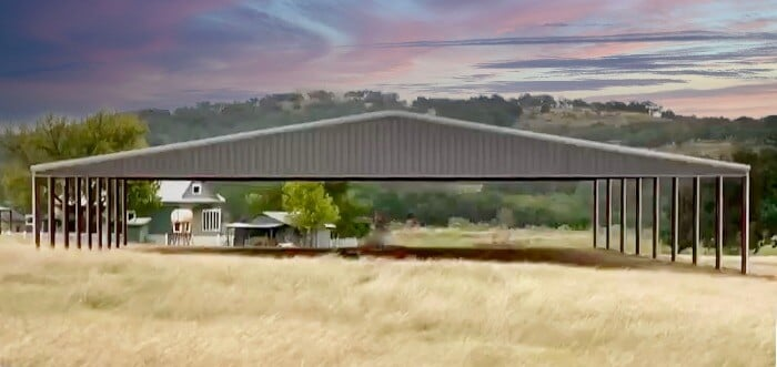 Grey arena with sunset by Covered Arena (TM) and Dressage Arenas
