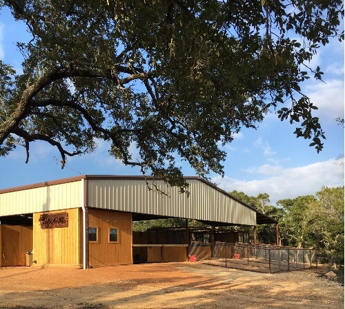 Barn and arena combo by Covered Arena (TM) and Dressage Arenas