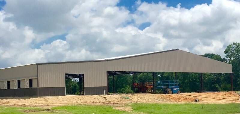 Large barn arena combo by Covered Arena (TM) and Dressage Arenas