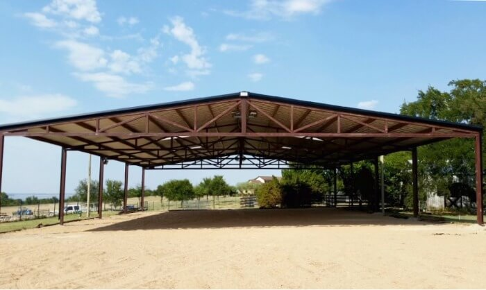 Simple partial cover by Covered Arena (TM) and Dressage Arenas