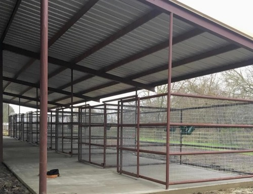 Stalls under construction by Covered Arena (TM) and Dressage Arenas