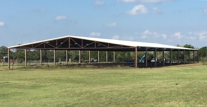 Wide arena by Covered Arena (TM) and Dressage Arenas